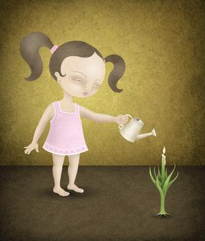Watering Girl