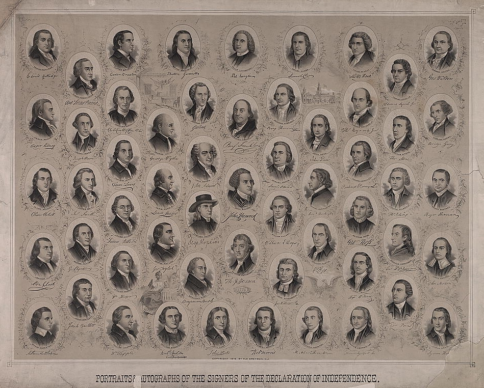 The author and signers of the declaration of independence by portraitsautographsofthesignersofthedeclarationofindependenceusa publicscrutiny Image collections