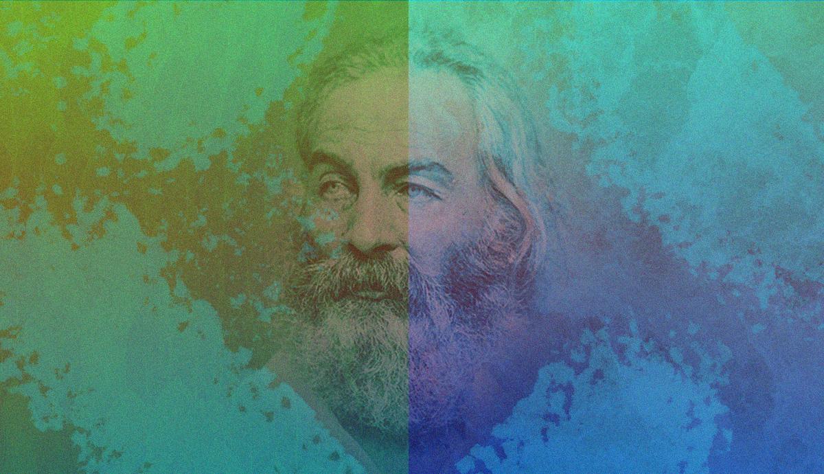 Whitman in a vibrant haze