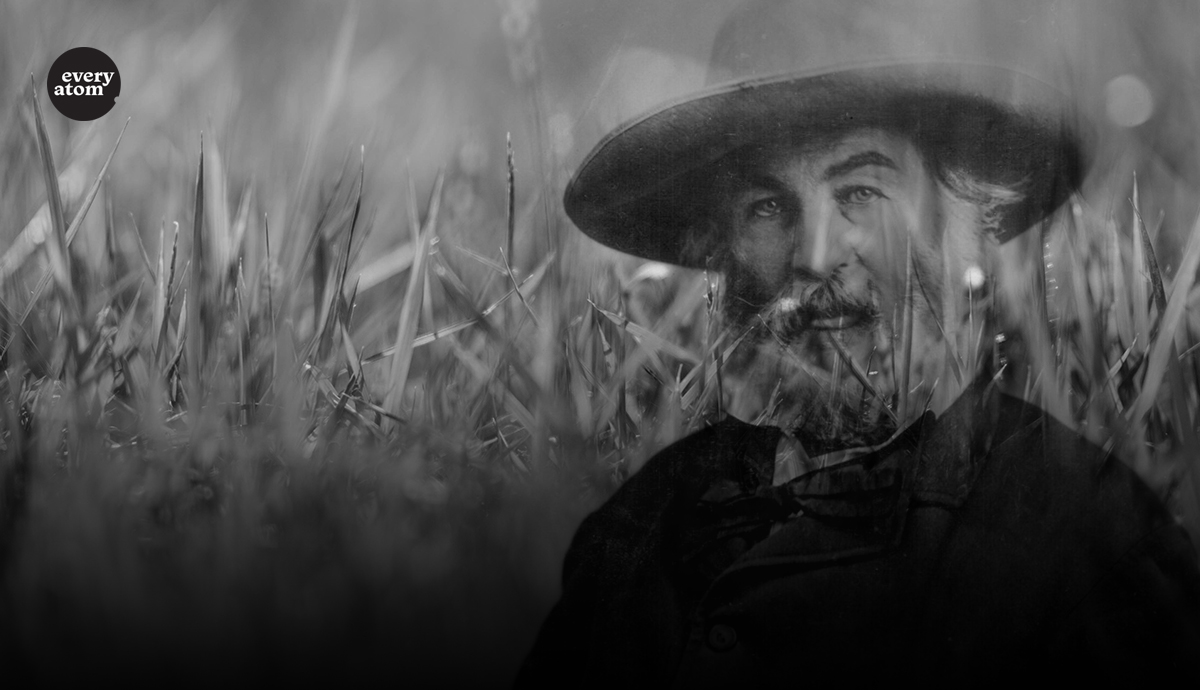 Walt Whitman and grass.