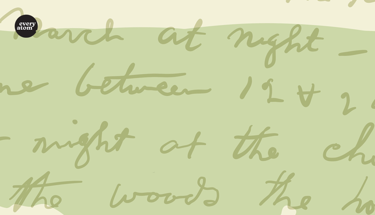 Whitman's handwriting