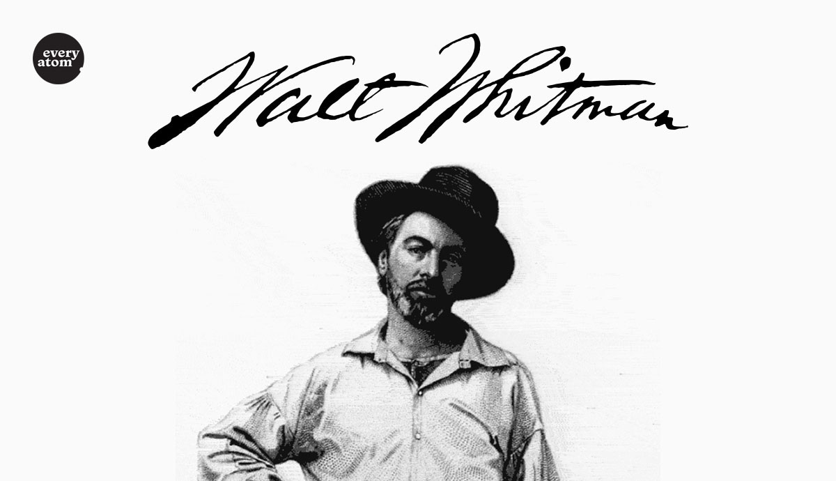 Young Whitman with signature