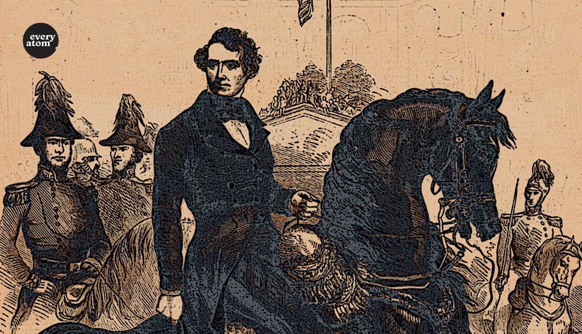 Franklin Pierce on horseback