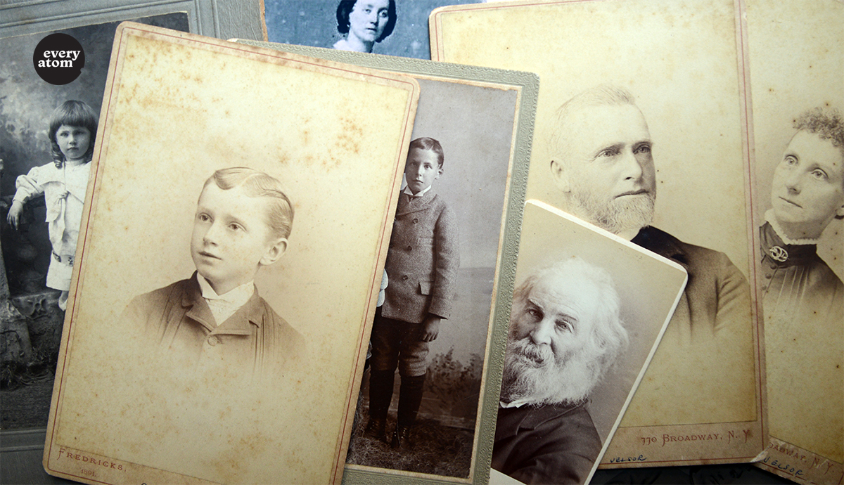 Photo montage of Whitman family