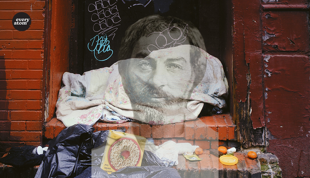 Ghost of Whitman on an urban stoop