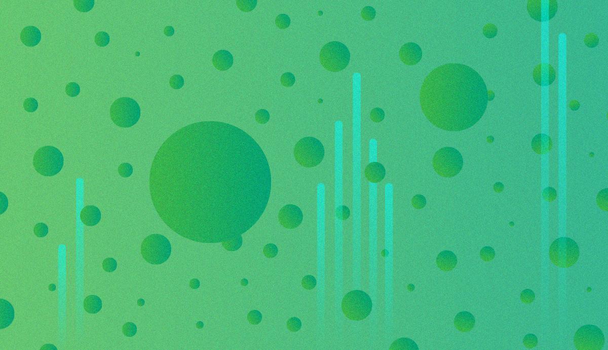electronic green splatters