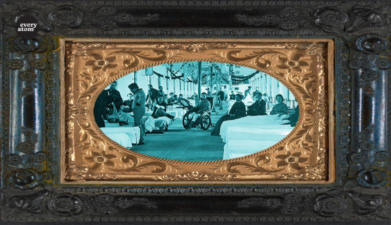 hospital scene shown within a picture frame