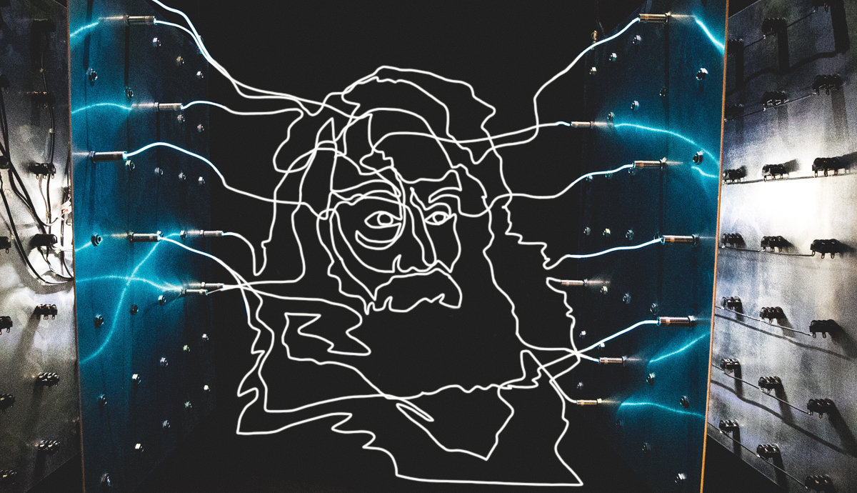 Electric outline of Whitman