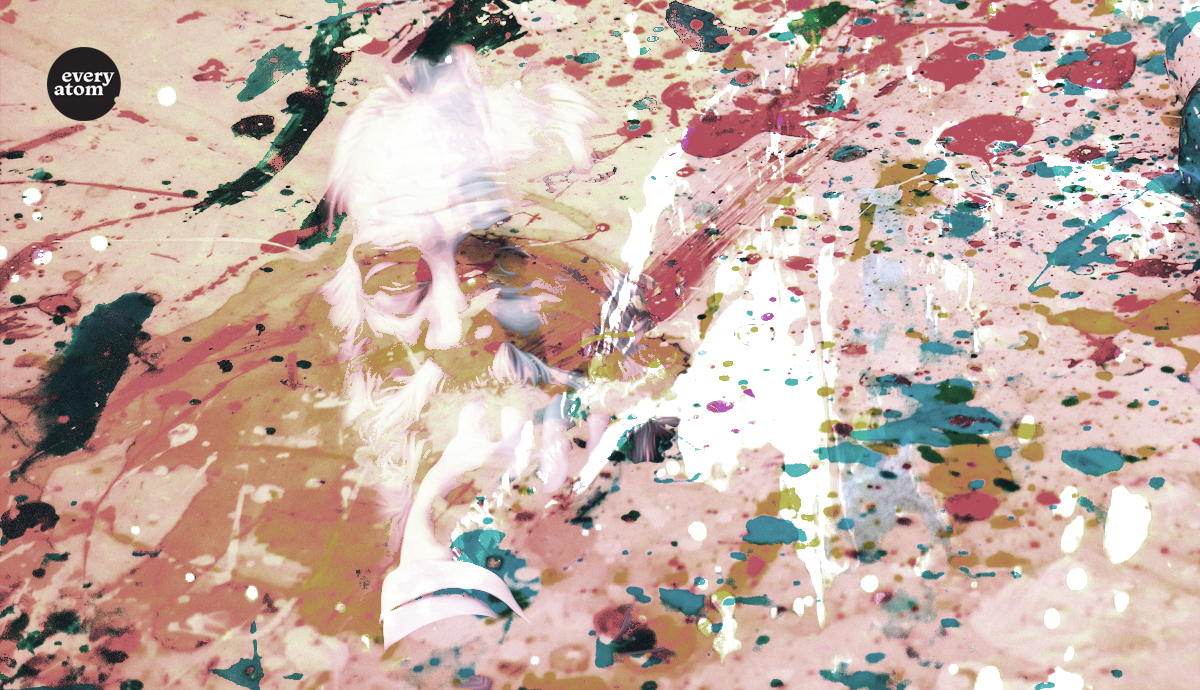 Splatter painting of Whitman