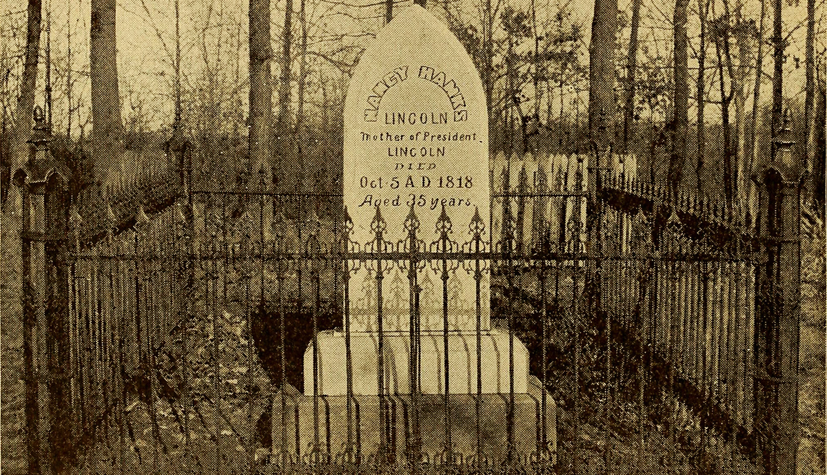 Grave of Nancy Hanks Lincoln, mother of Abraham Lincoln