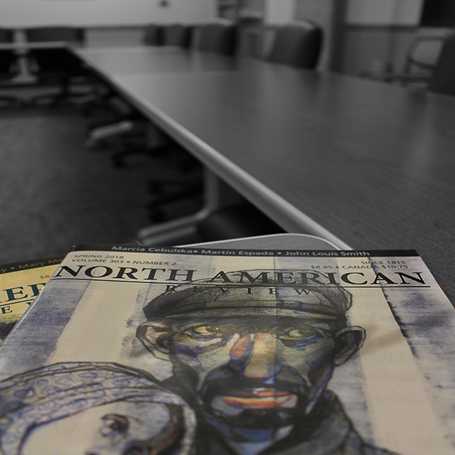 magazine in a conference room
