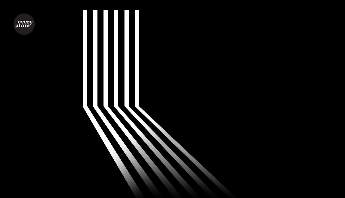 White columns on a black background