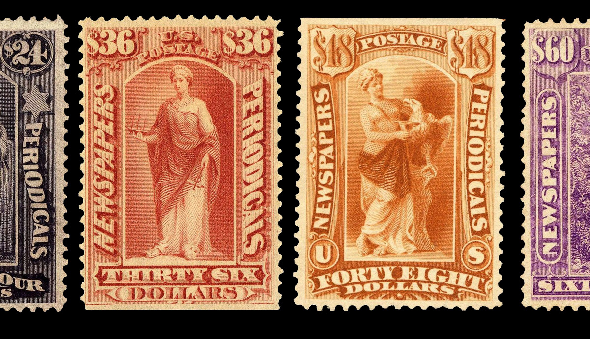 Set of newspaper and periodical stamps from 1879