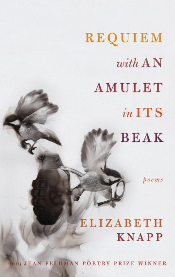 Book cover - Requiem with an Amulet in its Beak by Elizabeth Knapp