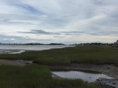The ocean in Biddeford, Maine