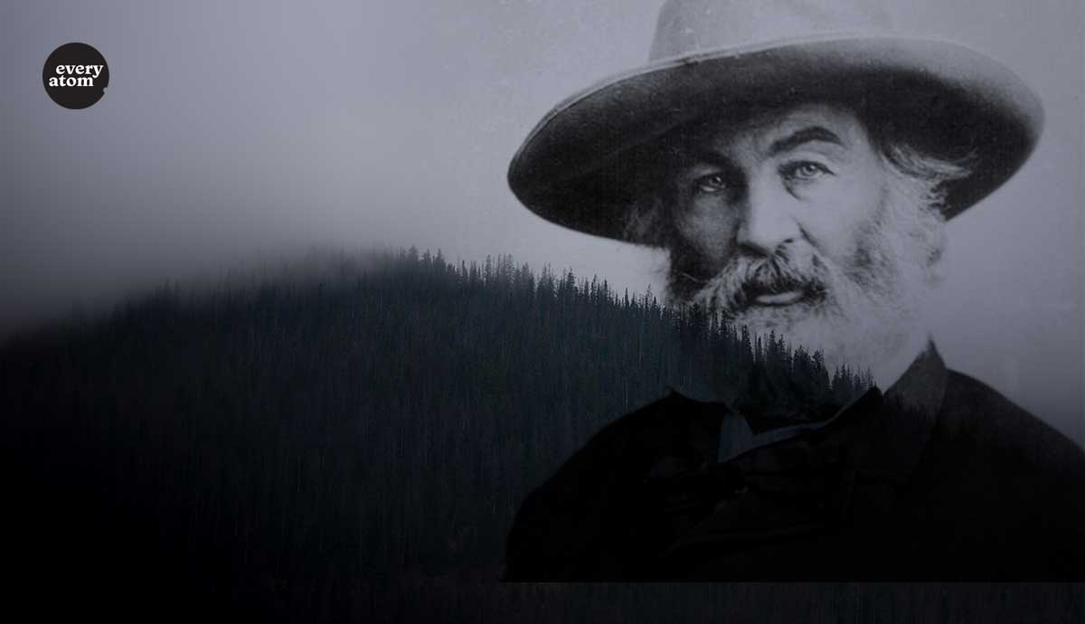 Whitman faded into a hillscape