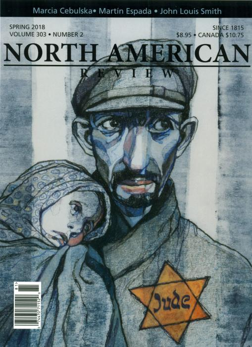 Cover, man with Jewish star holding child