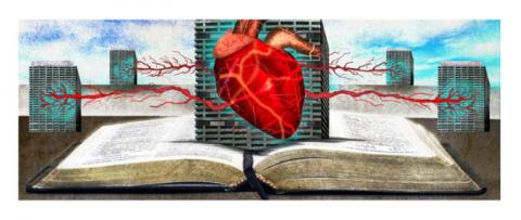 Heart Above an Open Book