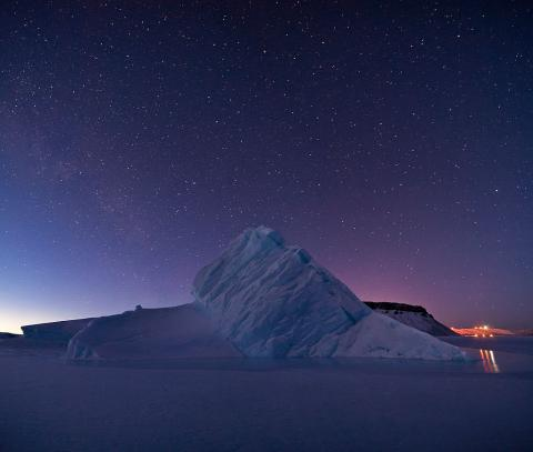 Iceberg in North Star Bay Greenland