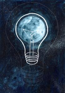 Moonlight lightbulb