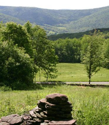 Overlooking mountains