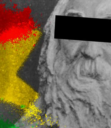Whitman with censored eyes