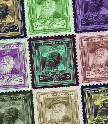 Whitman stamps in different colors