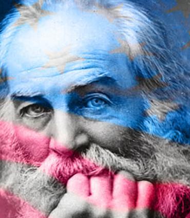 American flag over Whitman
