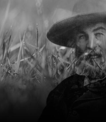 Walt Whitman and grass.