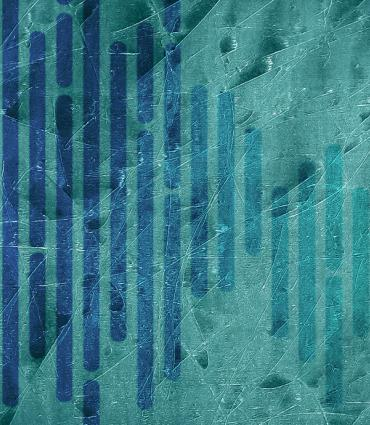 abstract blue segments