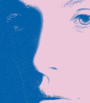 picture of a blue tinted shadowy face
