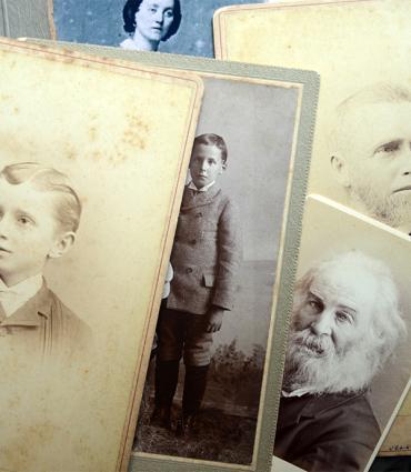 Photo montage of Whitman family
