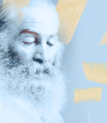 Whitman in 3/4 profile.