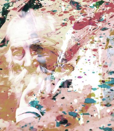 Splatter painting of Whitman