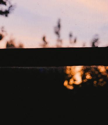 blurry lights through a window
