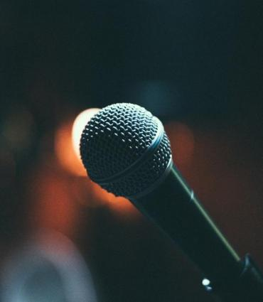 Photo courtesy of Unsplash of a microphone