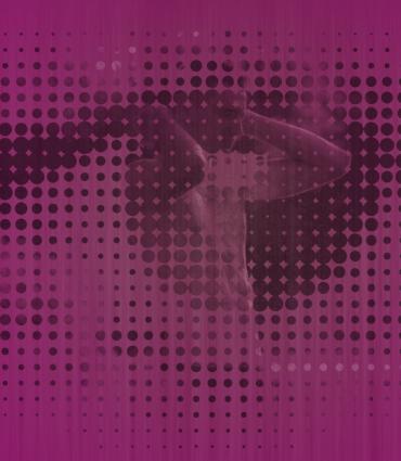 Man within a purple eye