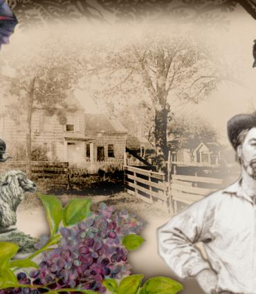 Walt Whitman at his birthplace