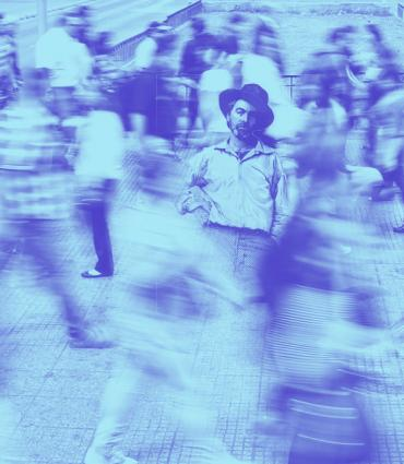 Whitman in a crowd
