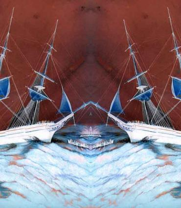 ships reflected on themselves