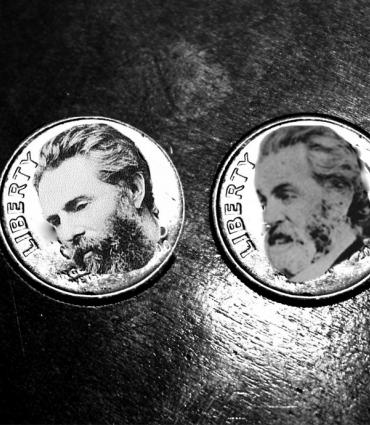 Whitman and Melville on coins