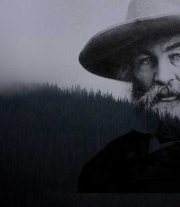 Whitman faded into a hillscape