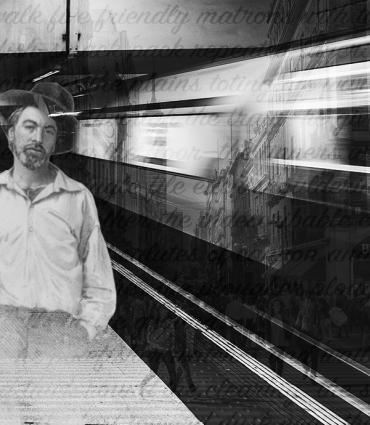 Whitman at a train