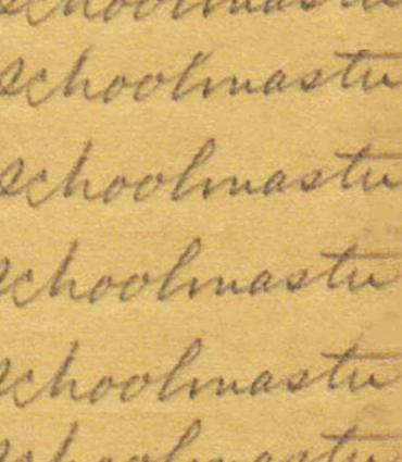 a word in cursive written repeatedly