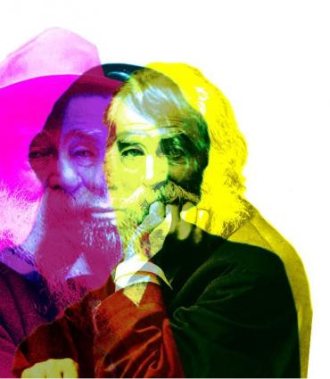 Multilayered, colored Whitman