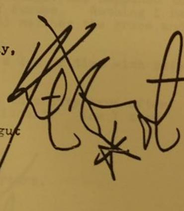 Yours Truly, Kurt Vonnegut Signature