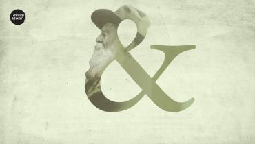 """&"" symbol with Whitman's face therein"