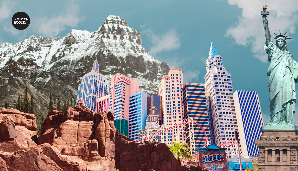a collection of iconic landmarks