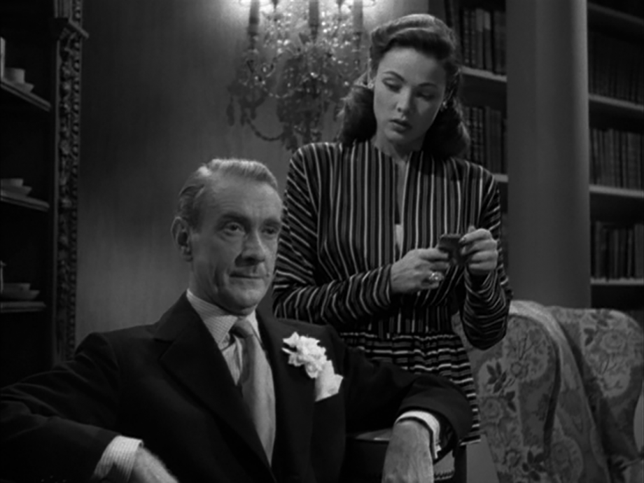 Clifton Webb and Gene Tierney in Laura